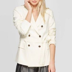 NWT Who What Wear Double Breasted Belted Blazer